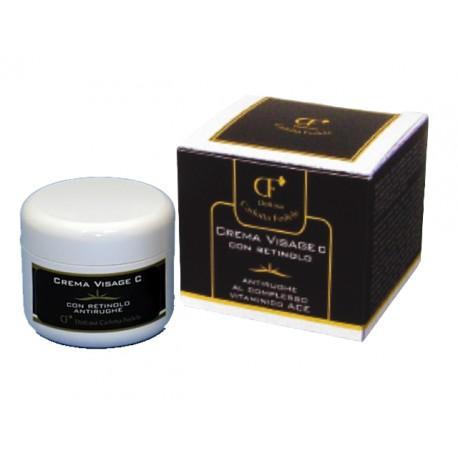 Crema visage C + retinolo antirughe al complesso vitaminico ace